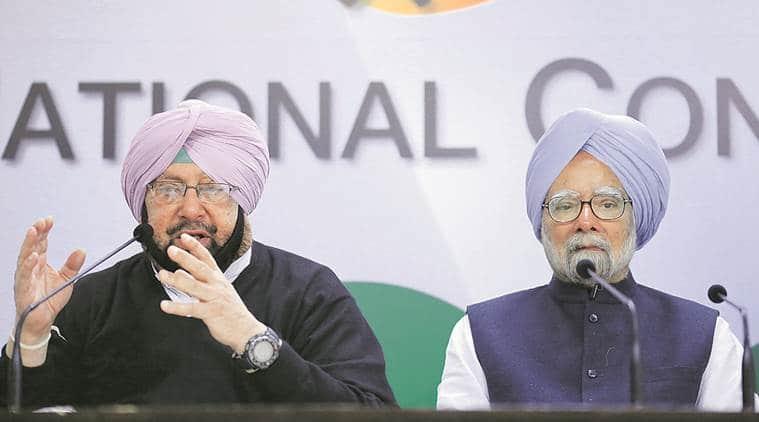 Punjab elections, Punjab polls, Congress, demonetisation, note ban, Manmohan Singh, Congress releases poll manifesto, Amarinder Singh, Punjab news, India news, Indian Express