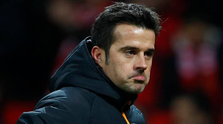 """Britain Football Soccer - Manchester United v Hull City - EFL Cup Semi Final First Leg - Old Trafford - 10/1/17 Hull City manager Marco Silva after the game Reuters / Phil Noble Livepic EDITORIAL USE ONLY. No use with unauthorized audio, video, data, fixture lists, club/league logos or """"live"""" services. Online in-match use limited to 45 images, no video emulation. No use in betting, games or single club/league/player publications. Please contact your account representative for further details."""