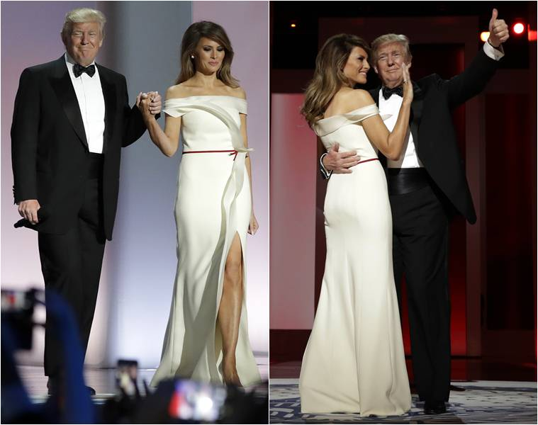 Melania Trump Looks Like A Vision In White At Trump S Inaugural Ball Lifestyle News The Indian Express