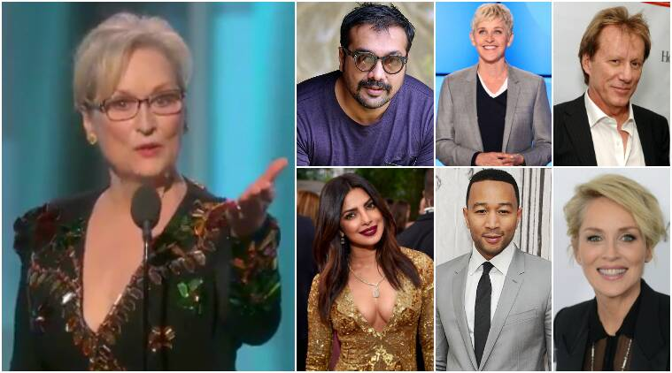 meryl streep speech reaction, meryl streep donald trump, meryl streep hollywood reaction, meryl streep bollywood reaction, meryl streep donald trump speech, meryl streep acceptance speech, meryl streep golden globes, meryl streep golde globe 2017, meryl streep award speech golden globe, meryl streep celebs react, meryl streep twitter reaction, meryl streep twitter, meryl streep priyanka chopra, meryl streep news, meryl streep, golden globe highlights, golden globes 2017, golden globes news, indian express, indian express news