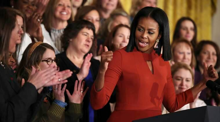 michelle, obama, michelle obama, michelle obama last speech, michelle speech, michelle farewell event, michelle obama work, michelle obama farewell speech, world news, michelle obama news, latest news