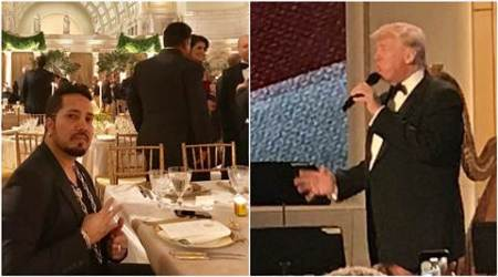 Mika Singh attends Donald Trump's pre-inaugural dinner, says Trump brightened up the evening. See pics,videos