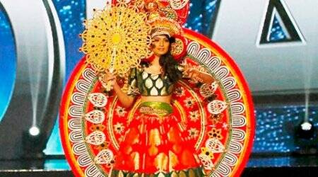 miss universe, miss universe 2017, miss universe 2017 beauty pageant, miss universe 2017 national costume, miss universe india Roshmitha Harimurthy, Roshmitha Harimurthy, Indian express, indian express news