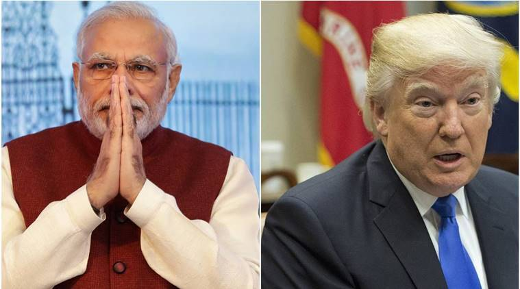 Donald Trump Narendra Modi, Narendra Modi US Visit, US visit Modi, Modi Trump, H1-B visa, White house, Indian express, India news