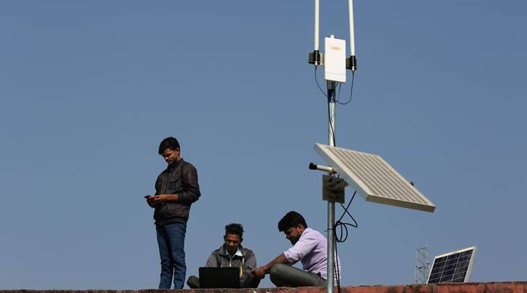 wi-fi choupal, wi-fi in gram panchayats, wi-fi hotspots in villages, Department of telecommunication, DoT, internet in villages, indian express news