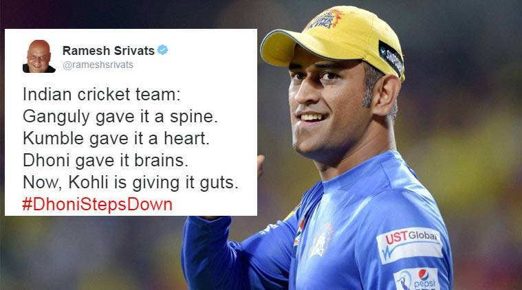 MS Dhoni steps down as limiter overs captain