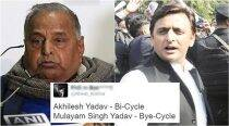 How Twitterati reacted to Akhilesh Yadav getting ownership of cycle symbol from EC