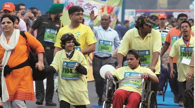 Standard Chartered Mumbai Marathon, mumbai marathon, mumbai disabled marathon, healthy run, indian express news, india news, mumbai, mumbai news