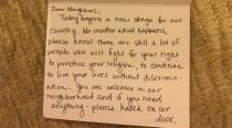 Muslim family gets heartwarming note after Donald Trump's inauguration