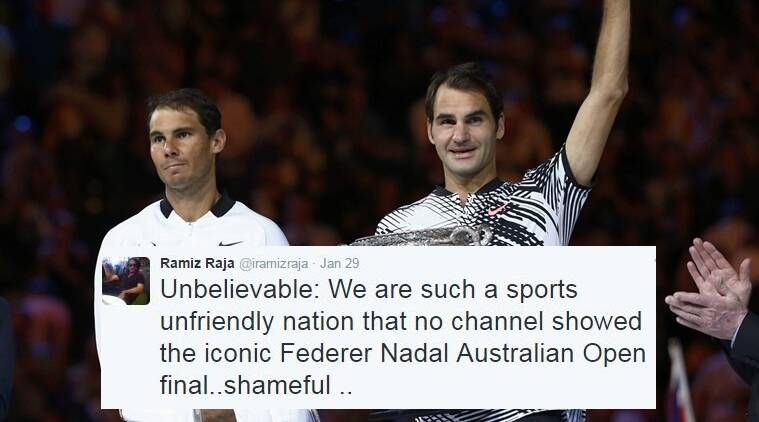 According to people, Pakistan did not broadcast Australian Open final