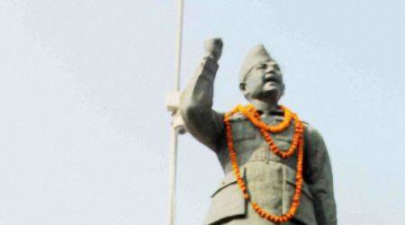 Netaji Subhas Chandra Bose statue vandalised in West Bengal's Birbhumdistrict