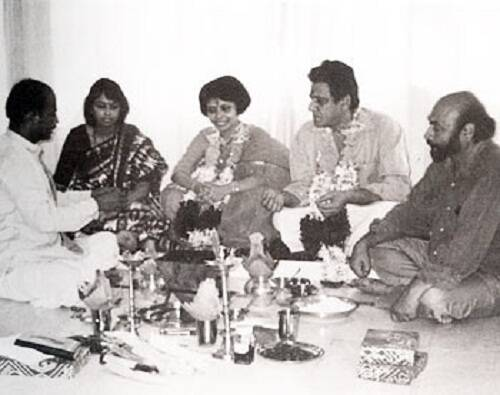 om puri, om puri wife, Nandita puri, om puri wedding pic