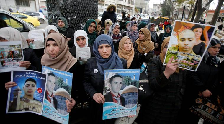 palestine, palestinian assailants, palestinian assailants funeral, west bank, hebron, israel killings, israel troops, world news, palestine news, indian express news
