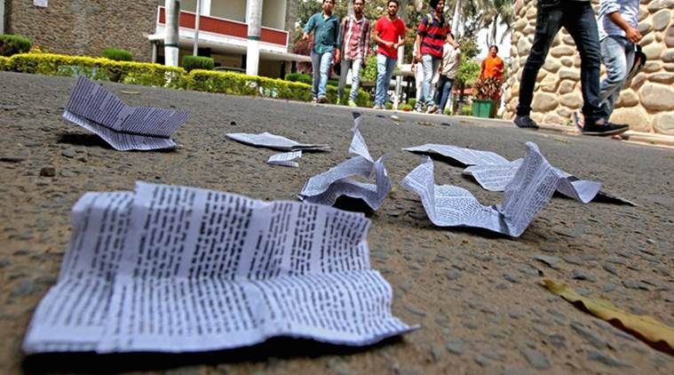 UP board exam, mass cheating, english exam, up board english exam,paper leak, UP board cheating, up board time table, class 10 english, upmsp.nic.in, UP class 10 board exams, UP 10th class english, 10th class english exam, education news, indian express news