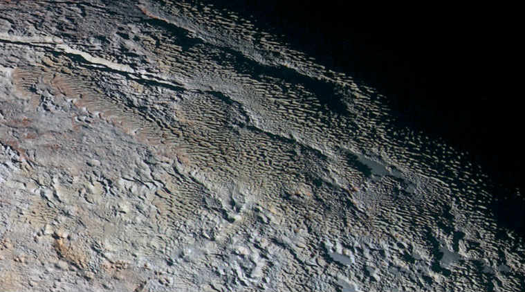 NASA, penitentes, ice on pluto, pluto, planet pluto, Tartarus Dorsa, nasa new horizons, NASA Goddard Space Flight Center, Johns Hopkins University Applied Physics Laboratory, science, science news