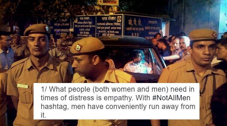 #NotAllMen, Not all men twitter, Bengaluru, Bengaluru molestation, Bangalore molestation, Bangalore news, Bangalore, Bengaluru news, Banglore new years, Bengaluru new years