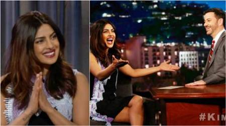 priyanka chopra, priyanka chopra jimmy kimmel, priyanka chopra american show, priyanka chopra on american chat show, priyanka show quantico, priyanka chopra on bollywood, priyanka chopra global star, priyanka chopra People's Choice Award, priyanka chopra baywatch, priyanka chopra dress jimmy kimmel show, priyanka chopra chat shows, priyanka chopra hollywood debut, priyanka chopra news, priyanka chopra updates, bollywood news, bollywood updates, entertainment news, indian express news, indian express
