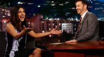 Priyanka is on Jimmy Kimmel Live after winning a People's Choice award