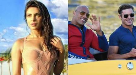 Priyanka Chopra, Zac Efron, Dwayne Johnson, Baywatch