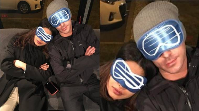 Baywatch actors Zac Efron and Priyanka Chopra have cosily tucked themselves away and decided to happily hibernate till winter goes away.