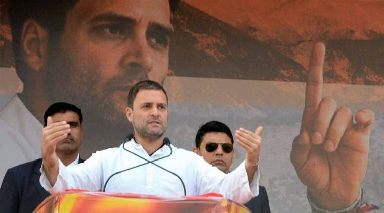 Rishikesh: Congress Vice President Rahul Gandhi addresses a rally in Rishikesh, Uttarakhand on Monday. PTI Photo (PTI1_16_2017_000198B)