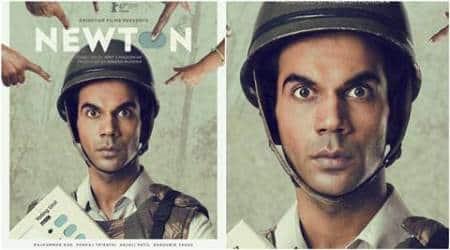 Rajkummar Rao, Newton, Newton film, Newton Berlin international film festival, Rajkummar Rao Newton poster