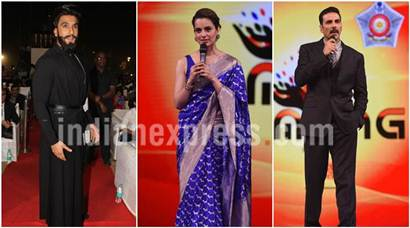 Akshay Kumar, Kangana Ranaut, Ranveer Singh and B-town biggies add glitter to an event in Mumbai