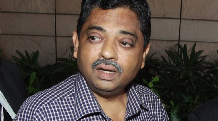 BCCI Chief Administrative Officer Ratnakar Shetty talks to media after the IPL Governing Council meeting in New Delhi on Friday. Express phopto by Prem nath pandey 02-july-13