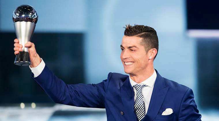 Cristiano Ronaldo, Ronaldo, Cristiano Ronaldo-FIFA best player, Ronaldo wins FIFA best player award, Ronaldo-Messi, Ronaldo-Messi, Antoine Griezmann, Portugal, Real Madrid, Euro, Champions League, Indian Express
