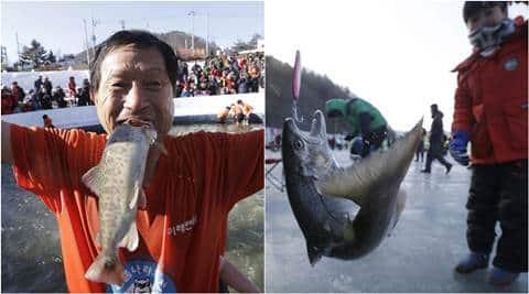 South Korea Ice Fishing