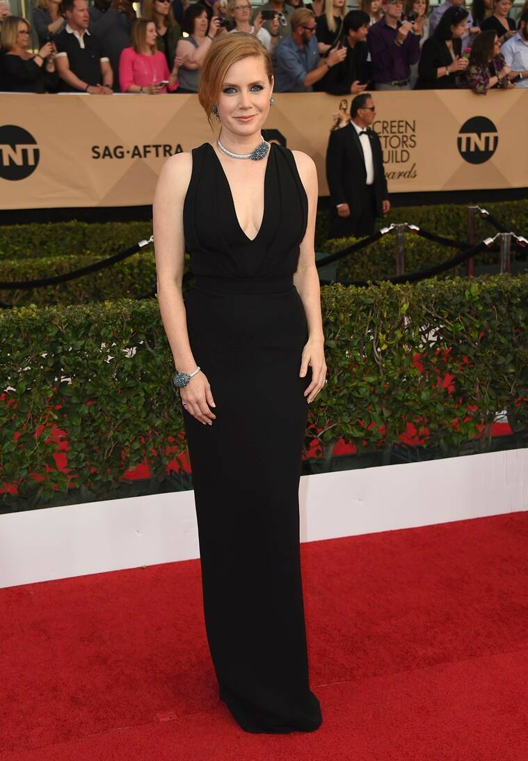 Amy Adams arrives at the 23rd annual Screen Actors Guild Awards at the Shrine Auditorium & Expo Hall on Sunday, Jan. 29, 2017, in Los Angeles. (Photo by Jordan Strauss/Invision/AP)