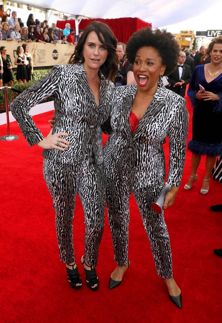 Amy Landecker, left, and Jenifer Lewis arrive at the 23rd annual Screen Actors Guild Awards at the Shrine Auditorium & Expo Hall on Sunday, Jan. 29, 2017, in Los Angeles. (Photo by Matt Sayles/Invision/AP)