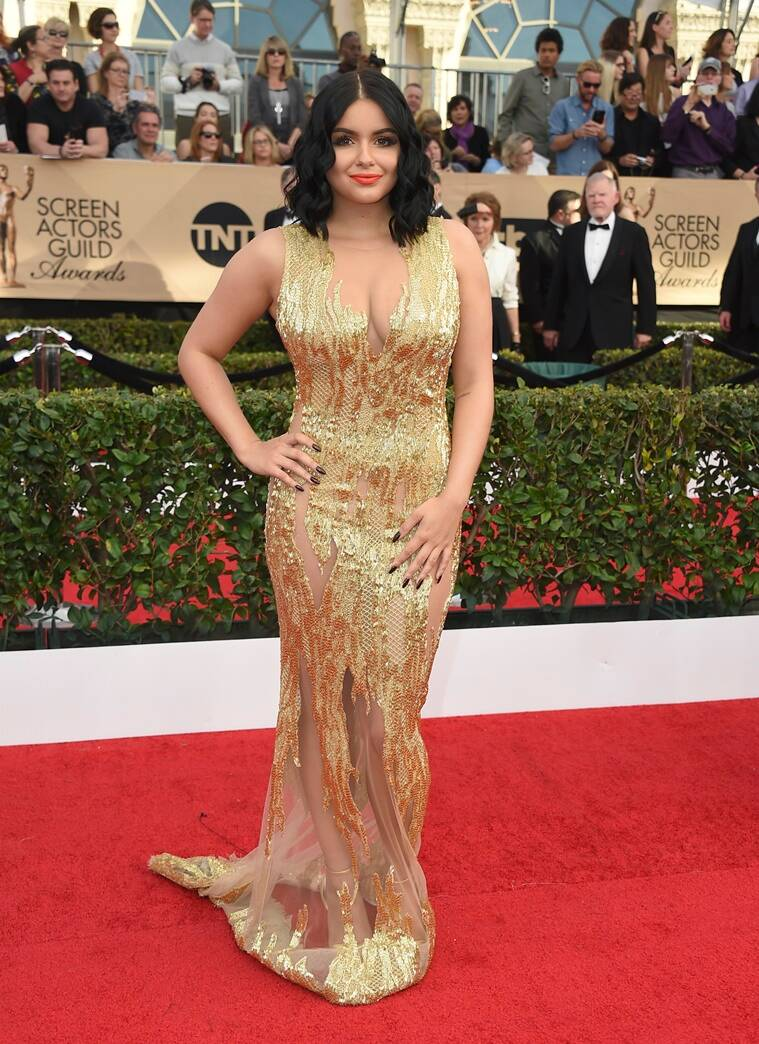 Ariel Winter arrives at the 23rd annual Screen Actors Guild Awards at the Shrine Auditorium & Expo Hall on Sunday, Jan. 29, 2017, in Los Angeles. (Photo by Jordan Strauss/Invision/AP)