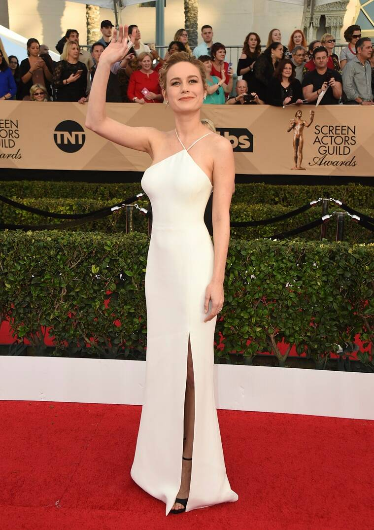 Brie Larson arrives at the 23rd annual Screen Actors Guild Awards at the Shrine Auditorium & Expo Hall on Sunday, Jan. 29, 2017, in Los Angeles. (Photo by Jordan Strauss/Invision/AP)