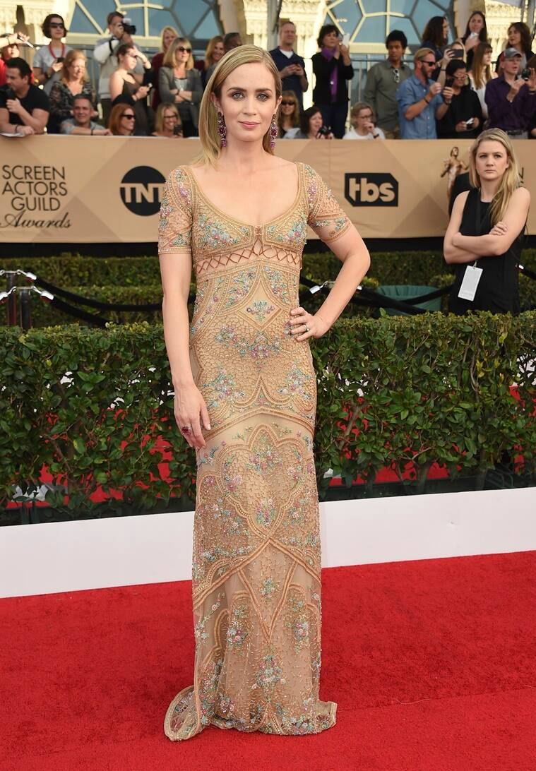 Emily Blunt arrives at the 23rd annual Screen Actors Guild Awards at the Shrine Auditorium & Expo Hall on Sunday, Jan. 29, 2017, in Los Angeles. (Photo by Jordan Strauss/Invision/AP)