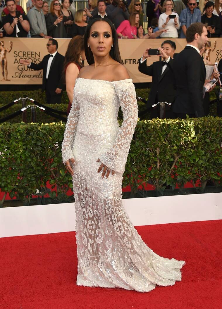 Kerry Washington arrives at the 23rd annual Screen Actors Guild Awards at the Shrine Auditorium & Expo Hall on Sunday, Jan. 29, 2017, in Los Angeles. (Photo by Jordan Strauss/Invision/AP)