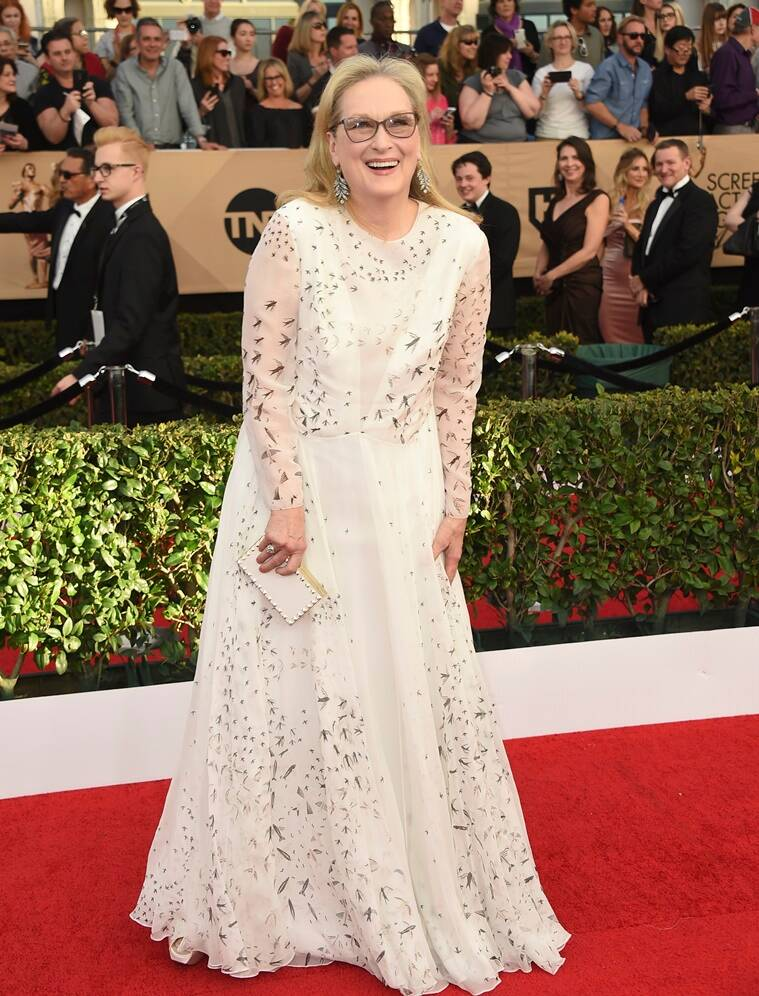 Meryl Streep arrives at the 23rd annual Screen Actors Guild Awards at the Shrine Auditorium & Expo Hall on Sunday, Jan. 29, 2017, in Los Angeles. (Photo by Jordan Strauss/Invision/AP)