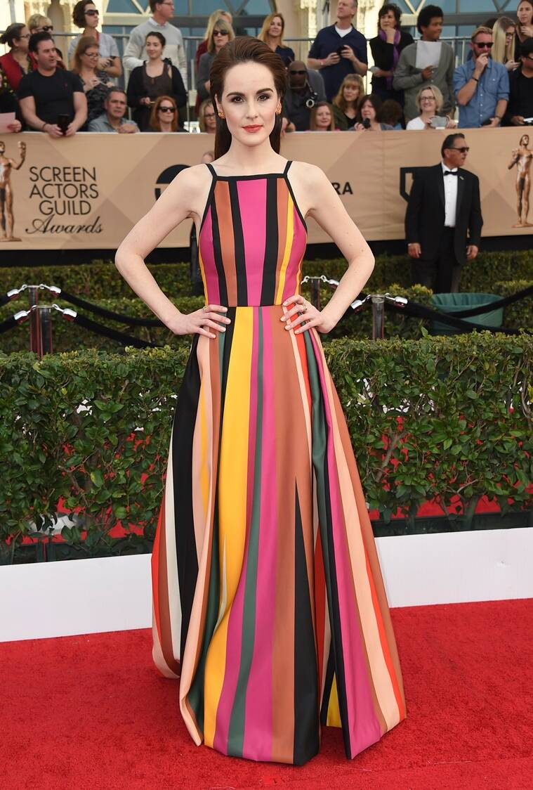 Michelle Dockery arrives at the 23rd annual Screen Actors Guild Awards at the Shrine Auditorium & Expo Hall on Sunday, Jan. 29, 2017, in Los Angeles. (Photo by Jordan Strauss/Invision/AP)