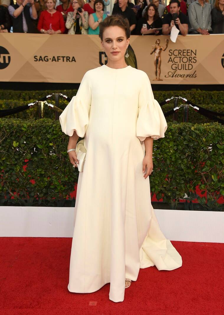 Natalie Portman arrives at the 23rd annual Screen Actors Guild Awards at the Shrine Auditorium & Expo Hall on Sunday, Jan. 29, 2017, in Los Angeles. (Photo by Jordan Strauss/Invision/AP)