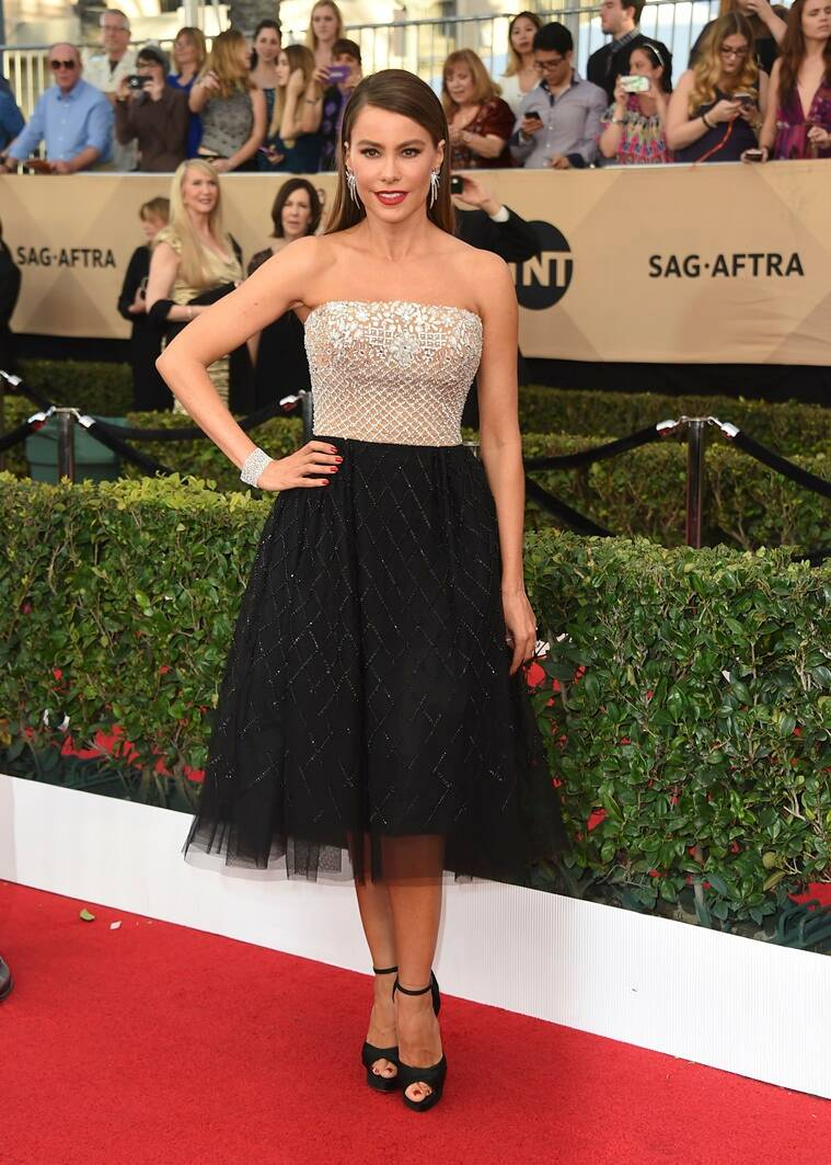 Sofia Vergara arrives at the 23rd annual Screen Actors Guild Awards at the Shrine Auditorium & Expo Hall on Sunday, Jan. 29, 2017, in Los Angeles. (Photo by Jordan Strauss/Invision/AP)