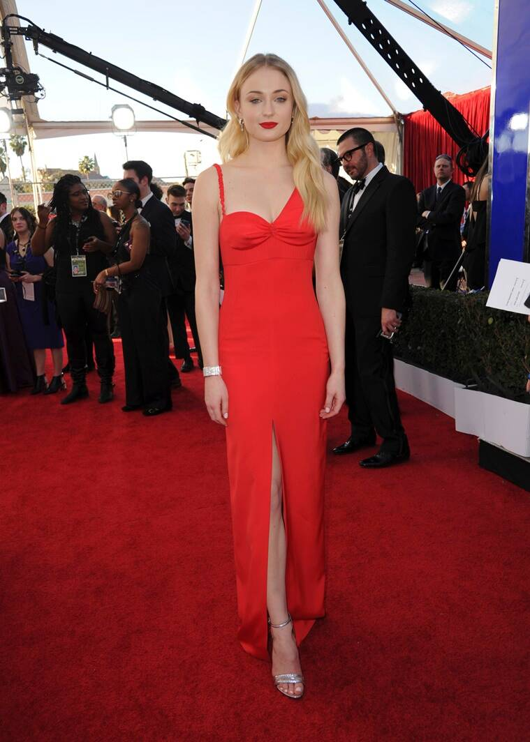 Sophie Turner arrives at the 23rd annual Screen Actors Guild Awards at the Shrine Auditorium & Expo Hall on Sunday, Jan. 29, 2017, in Los Angeles. (Photo by Richard Shotwell/Invision/AP)
