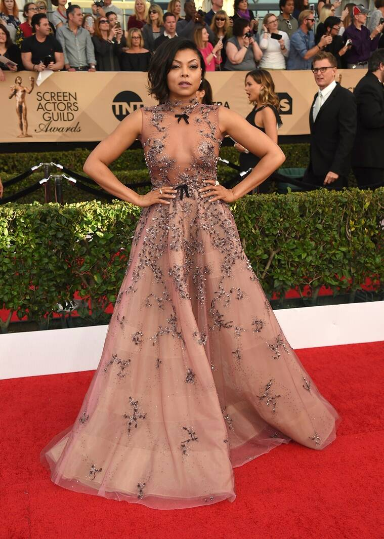 Taraji P. Henson arrives at the 23rd annual Screen Actors Guild Awards at the Shrine Auditorium & Expo Hall on Sunday, Jan. 29, 2017, in Los Angeles. (Photo by Jordan Strauss/Invision/AP)