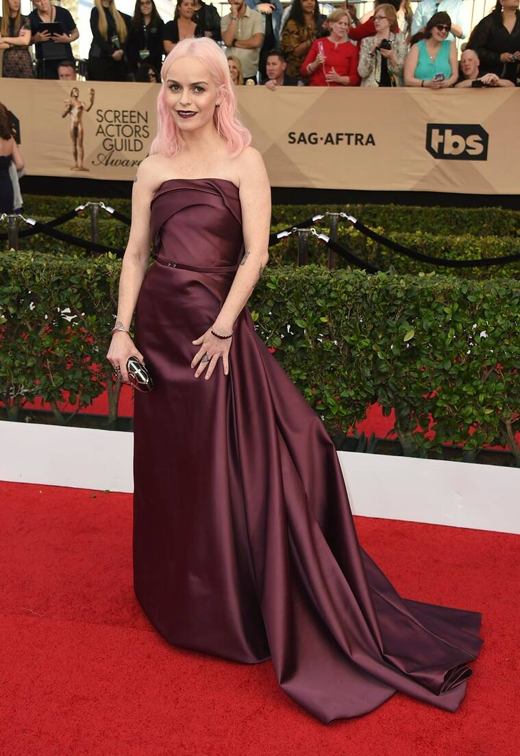 Taryn Manning arrives at the 23rd annual Screen Actors Guild Awards at the Shrine Auditorium & Expo Hall on Sunday, Jan. 29, 2017, in Los Angeles. (Photo by Jordan Strauss/Invision/AP)