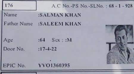 salman khan, salman khan fake id, salman khan fake voter id, salman khan age, salman khan fake age id, bizarre news, viral news, trending news, entertainment news, indian express