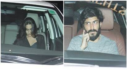 Sara Ali Khan, Harshvardhan Kapoor spotted at Saif Ali Khan and Kareena Kapoor's house