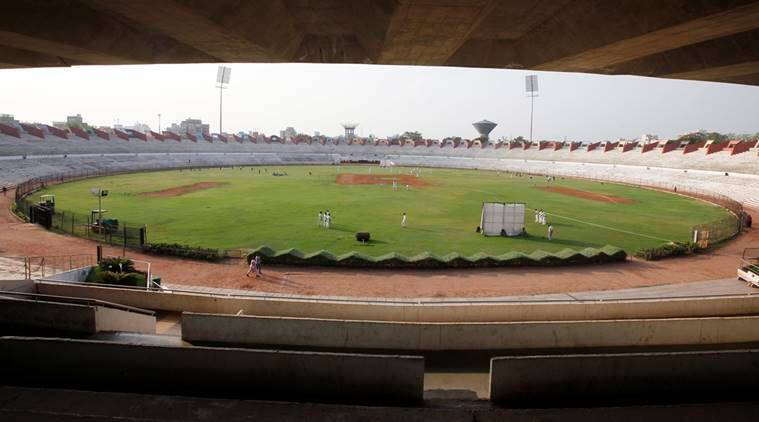 Sardar Patel Stadium located at Navrangpura in Ahmedabad was also designed by Charles Correa. Express Photo by Javed Raja. 17.06.2015.
