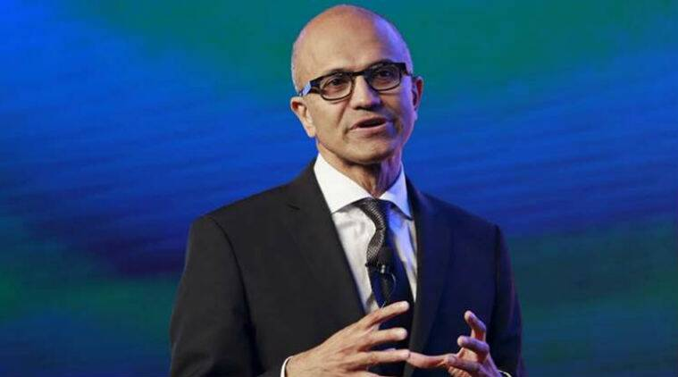 Satya Nadella, Microsoft, Microsoft india, data natural resource, digital world, ICRISAT, election commission, indian express news, indian express business