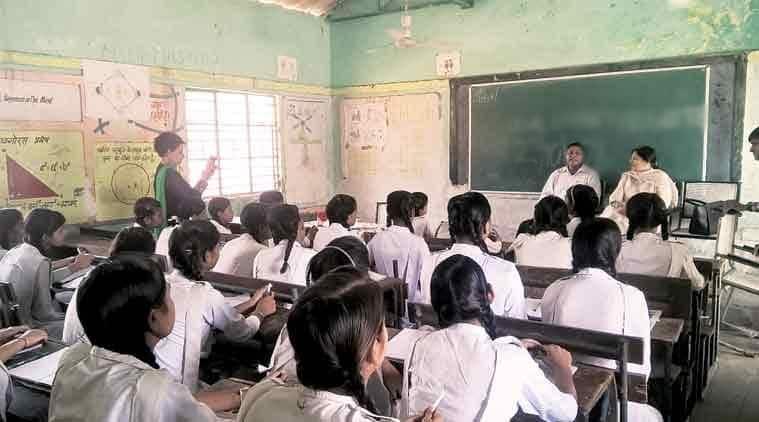Rajasthan government, Rajasthan schools, school, school dress, mirrors, dress up, good look, rajasthan news, education news, indian express news