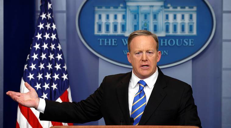 White House spokesman Sean Spicer holds a press briefing at the White House in Washington, D.C., U.S. January 24, 2017.  REUTERS/Kevin Lamarque