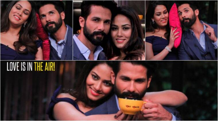 koffee with karan, koffee with karan shahid kapoor, koffeee with karan mira rajput, shahid kapoor mira rajput, mira rajput shahid kapoor, shahid mira, mira shahid, shahid kapoor karan johar, karan johar shahid kapoor, mira rajput karan johar, karan johar mira rajput, entertainment news, indian express, ind